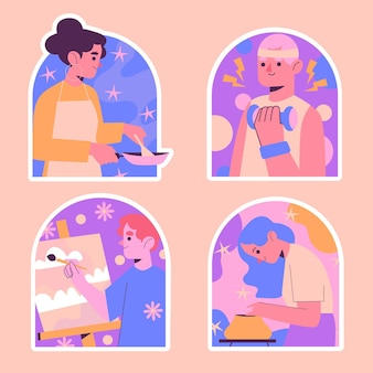 순진한 취미 스티커 모음
