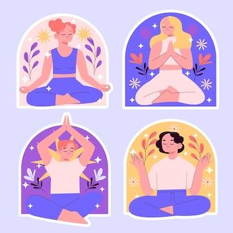 Коллекция наклеек наивной медитации