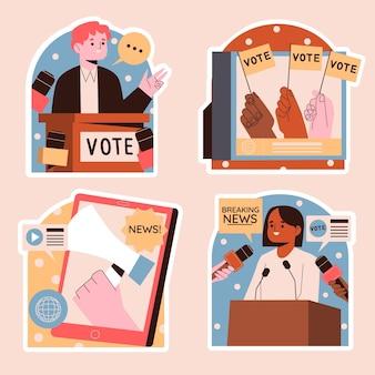Наивные новости и стикеры политики