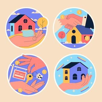 Наивные стикеры недвижимости