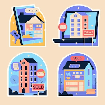 Naive real estate stickers