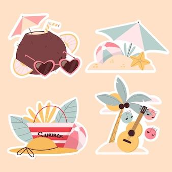 순진한 여름 스티커 컬렉션