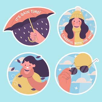 Naive weather sticker collection