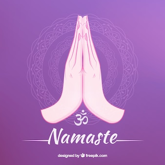 Namaste gesture with lovely style