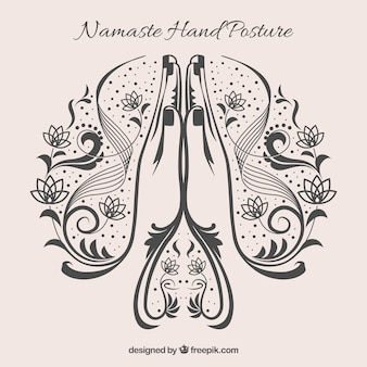 Namaste gesture with original styel
