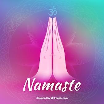 Namaste gesture with original style