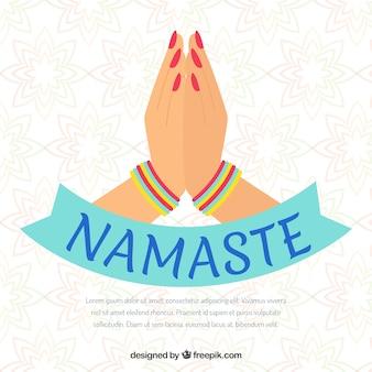 Namaste greeting background