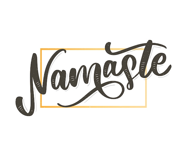 Namaste lettering indian greeting