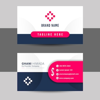 Name card front and back design template.
