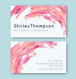 Визитная карточка с абстрактным текстурированным фоном