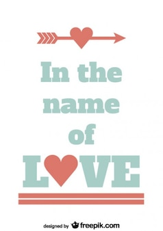 In the name of love card