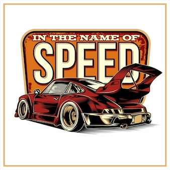 In the name of speed, vintage illustration