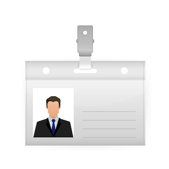 Name tag  illustration on white background. blank template. ,  . vector icon.