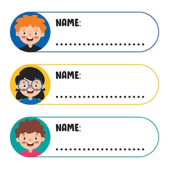 Name tags for school children