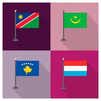 Namibia mauritania kosovo luxembourg