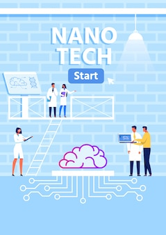 Nano tech research lab metaphor vertical banner