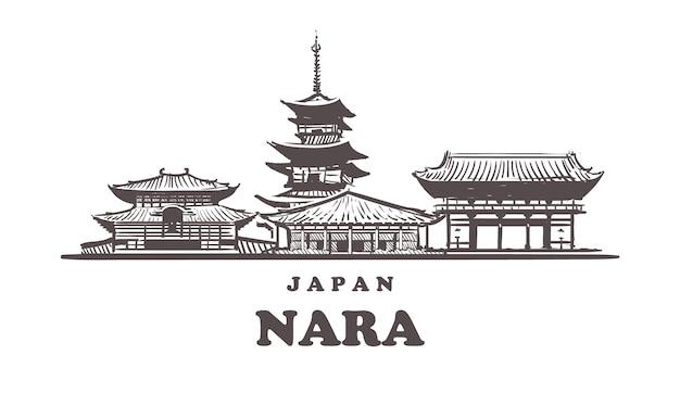 奈良手描き、日本