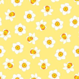 Нарцисс цветок на желтом фоне