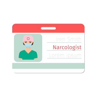 Narcologist medical specialist card