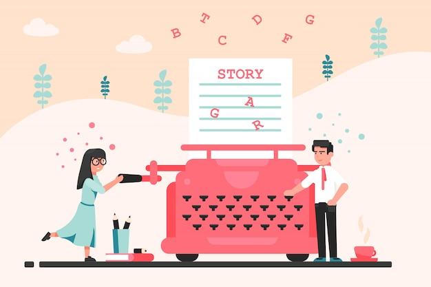 Narration, writing, story, literature, idea concept
