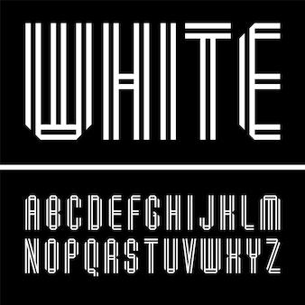 좁은 글꼴, 두 개의 흰색 종이 테이프에서 접힌 글자