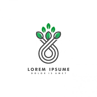 Narture пейзаж логотип векторная иллюстрация