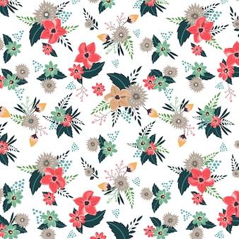 한련 꽃 패턴
