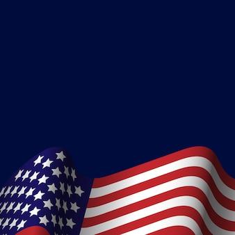 미국 국기와 함께 미국의 휴일 배경 축제 포스터 또는 배너. 삽화.