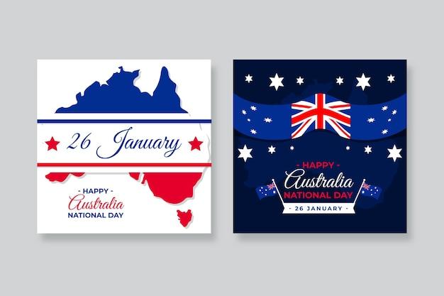 Biglietti di auguri per la giornata nazionale dell'australia
