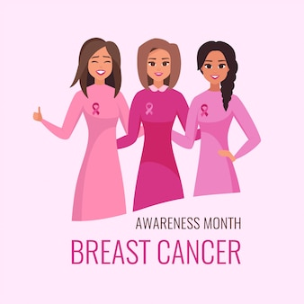 National breast cancer awareness month card