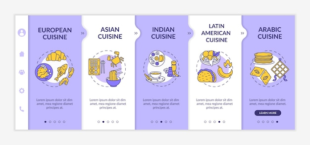 National cuisine onboarding template