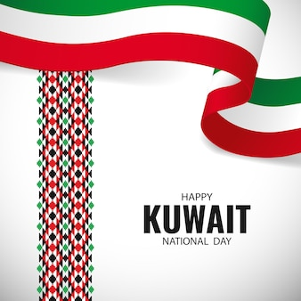 National day kuwait. Premium Vector