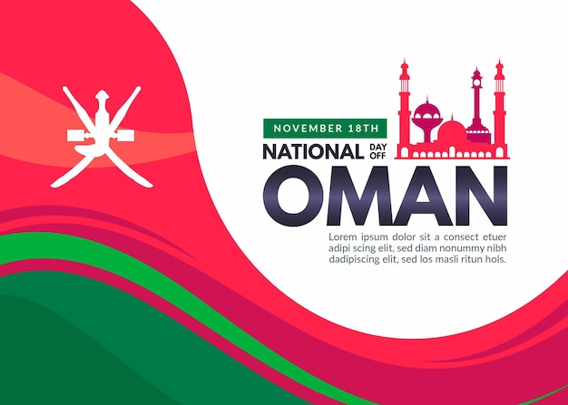 National day of oman illustration