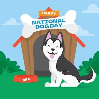 Illustrazione della giornata nazionale del cane Vettore gratuito