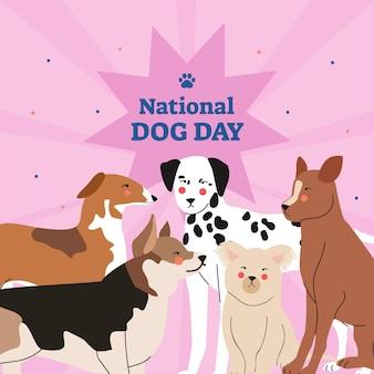 National dog day illustration