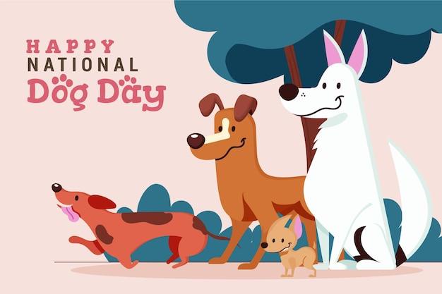 Иллюстрация национального дня собаки