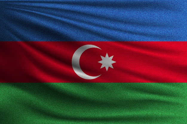 The national flag of azerbaijan.