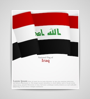 Брошюра по национальному флагом ирака