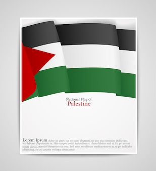 National flag brochure of palestine