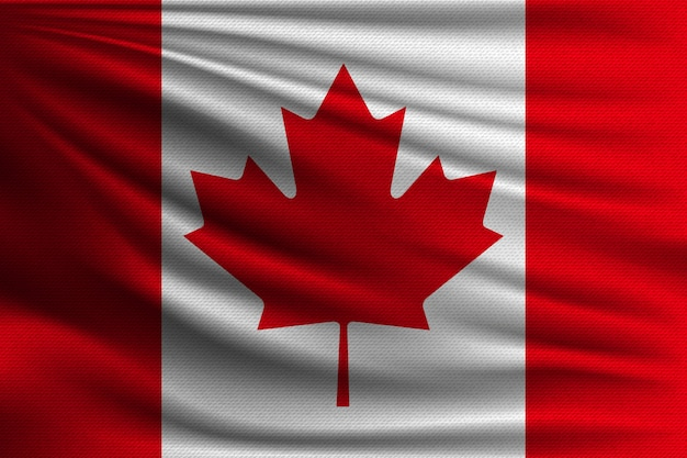 The national flag of canada.