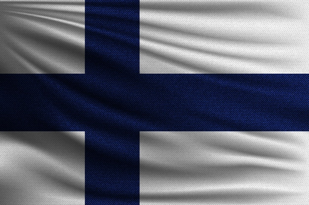 The national flag of finland.