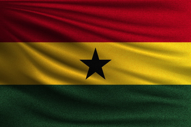 The national flag of ghana.