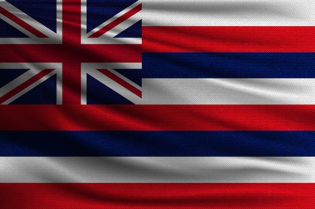 The national flag of hawaiian island.