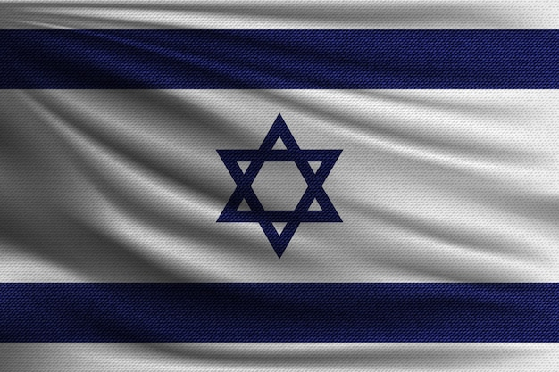 The national flag of israel.