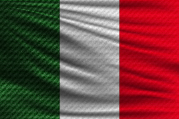 The national flag of italy.