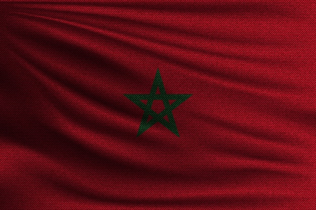 The national flag of morocco.