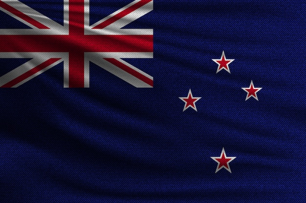 The national flag of new zealand.