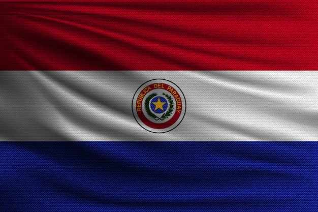 The national flag of paraguay.