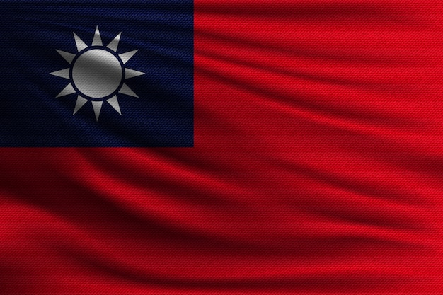The national flag of taiwan.