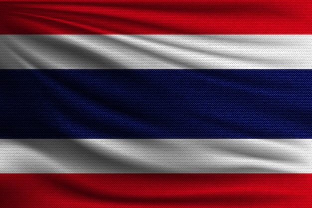 The national flag of thailand.